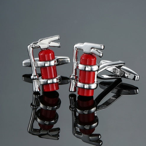 Men's Firefighter Extinguisher Cufflinks