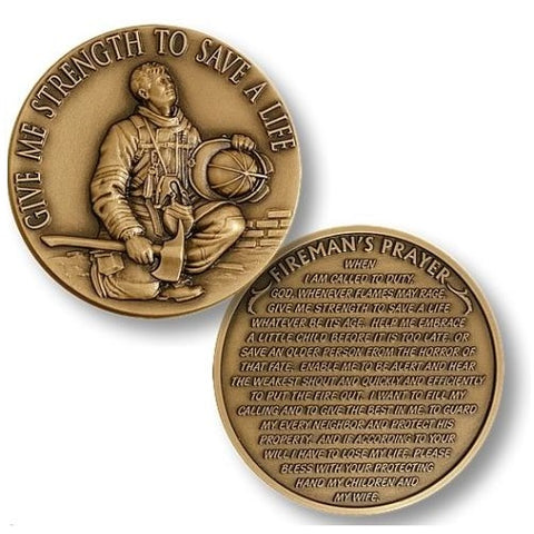 A Fireman's Prayer Coin