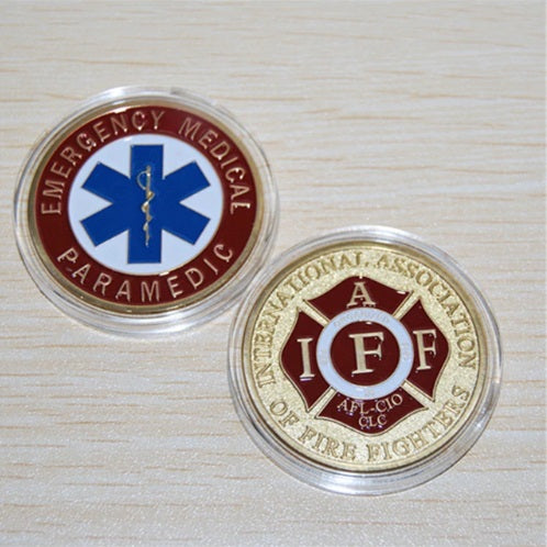 Emergency Medical Paramedic / IAFF Challenge Coin