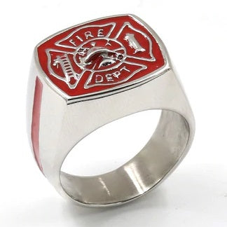 Red Firefighter Hero Ring