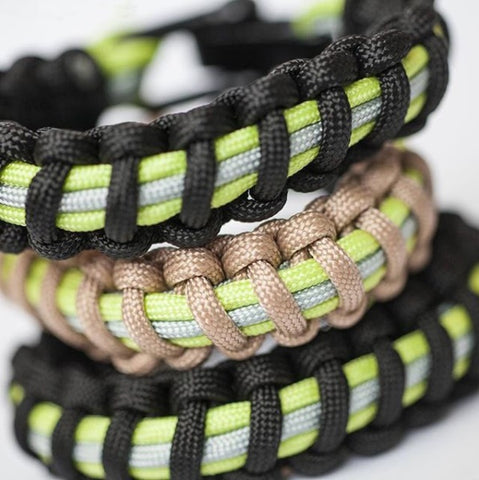 Firefighter Bunker Gear Paracord Bracelet