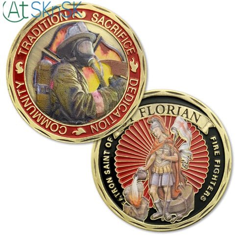 Firefighters Patron Saint St. Florian Challenge Coin