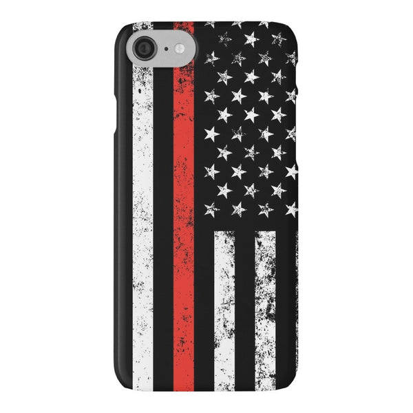 Thin Red Line of Courage Smokey Phone Case