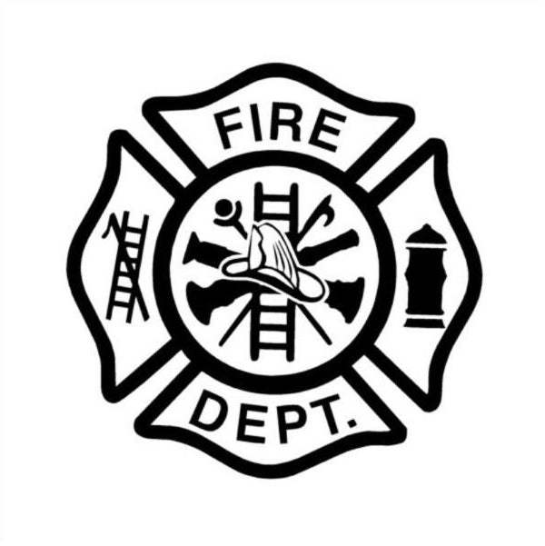 FIRE DEPT Window Decal Sticker