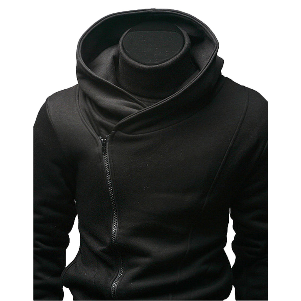 Side Zip Up Long Sleeve Plain Hoodie