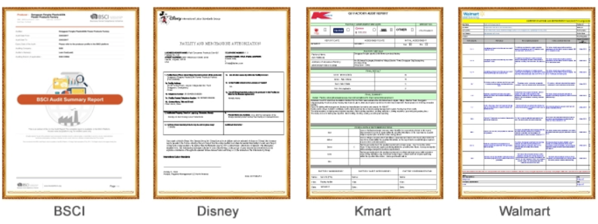 BSCI AUDIT REPORTS,DISNEY FAMA ASSESSED REPORTS