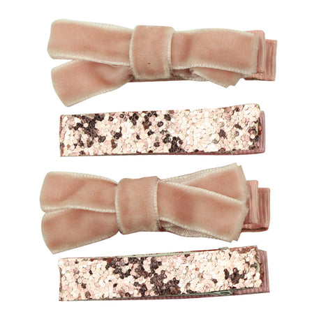 2inch mini Hair Bow clip accessories with all wrapped Ribbon Lined Alligator clip Hairpin headwear 8261