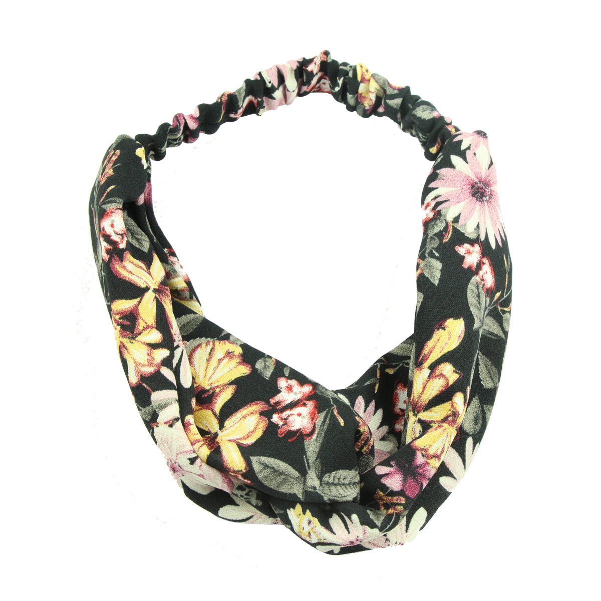 4 Pack Women Headband Boho Floral Style Criss Cross Head Wrap Hair Band 6720