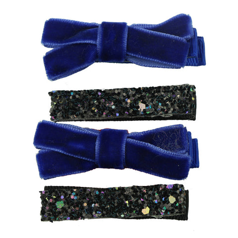 4pcs Handmade Mini Sequins Little Girls Hair Bows Clips Shiny Glitter Cute Hairpins Daily School Barrettes Headwear Accessories 8263