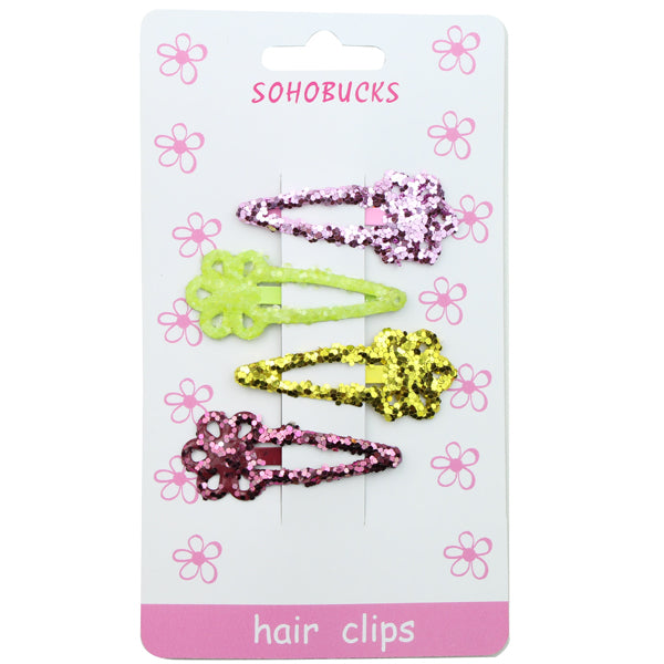 Bling  glitter Snap Clip Barrettes Hair Accessories Toddler girl snap hair clip wholesale 1263