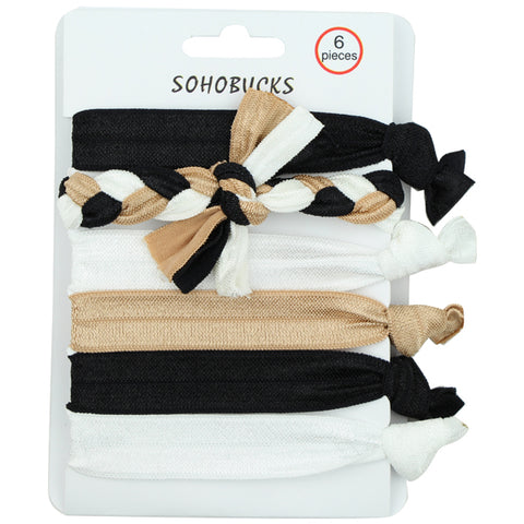 Braided hair accessories set 5/8 inches wide fold over elastic dye tie hair ties 1385 - SOHOBUCKS CO.,LIMITED