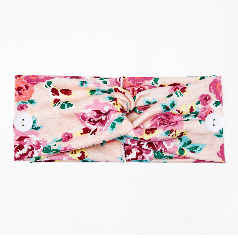 Cotton Scarf Printed Headband Leopard Twisted Floral Turban Elastic Crosses Wide Headbands For Women Girls Hair band 98012
