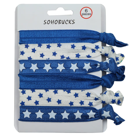 Crease free tie dye hair tie  silkscreen star cutsom printed elastic hair ties ponytail1173 - SOHOBUCKS CO.,LIMITED