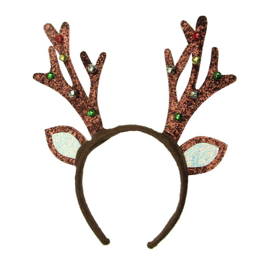 Deer Horns antler headband small bells Christmas hair headband 8130