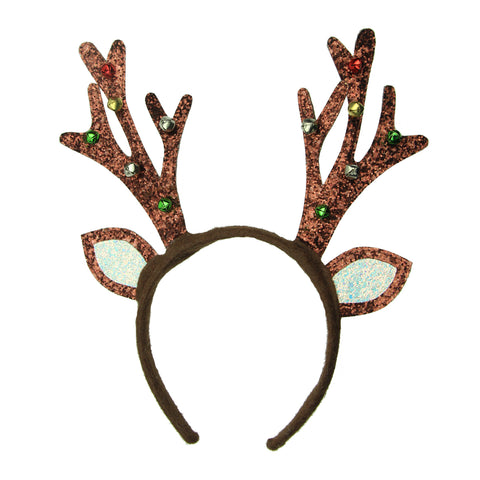 Deer Horns antler headband small bells Christmas hair headband 8130 - SOHOBUCKS CO.,LIMITED
