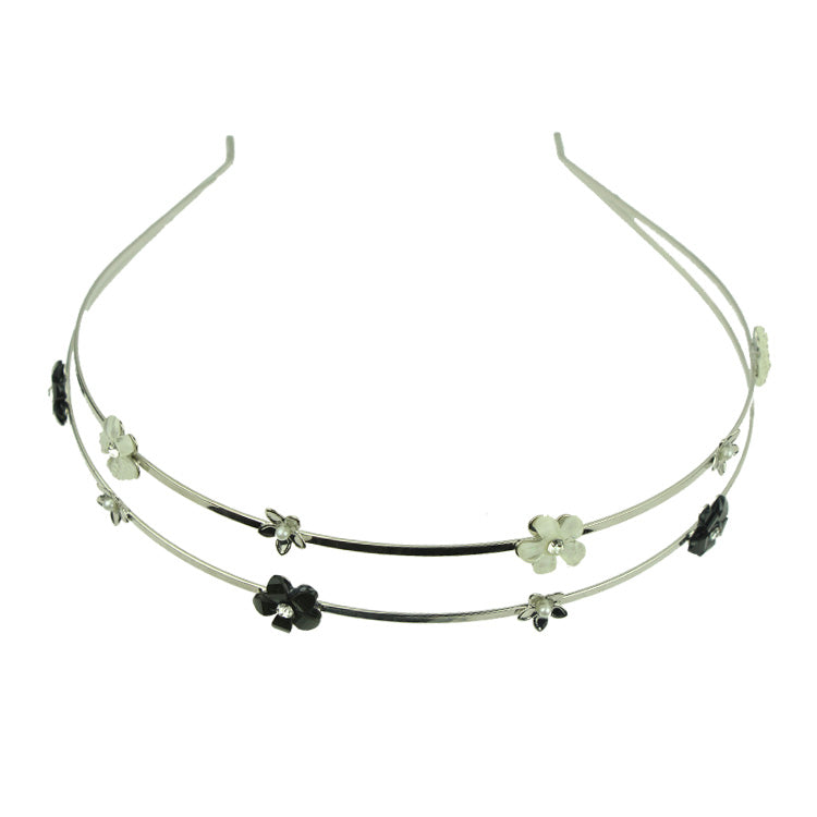 Double wire Metal headbands hairbands  nickle free lead free women's hair hoops flowers wholesale DIY girls hair jewelry 8220