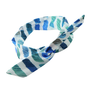 Dye Sublimated Zebra Satin Wired Adjustable Headband vintage head wrap 0748 - SOHOBUCKS CO.,LIMITED