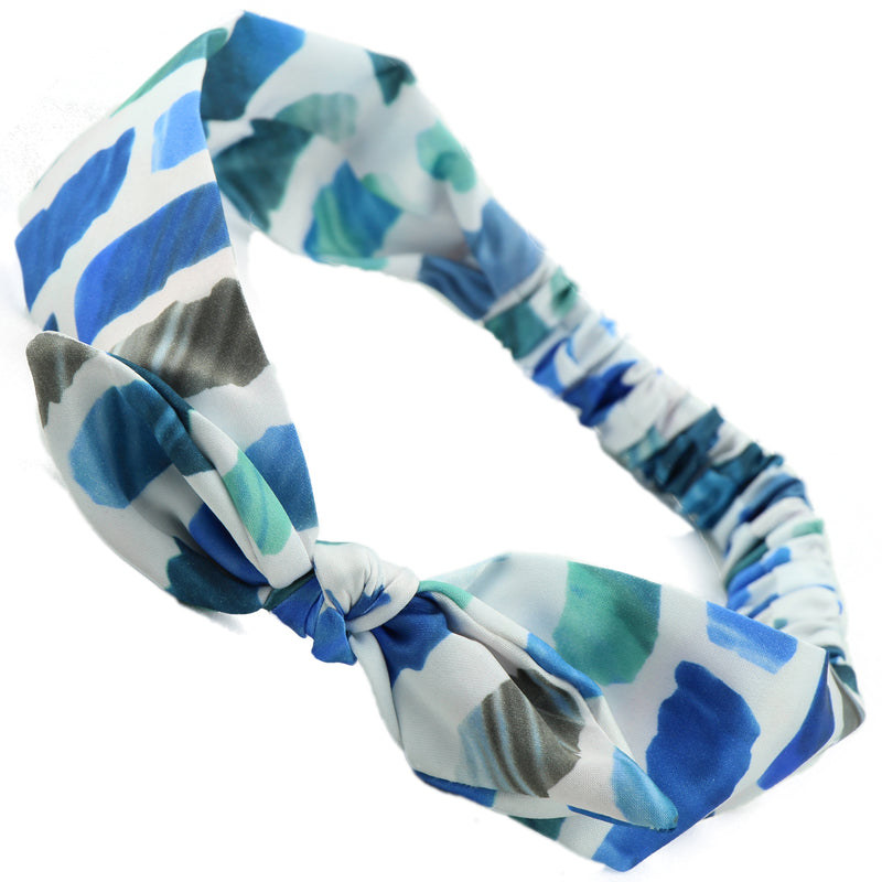 Dye Sublimation Zebra Satin Knit bunny ears Bow Headband 0722 - SOHOBUCKS CO.,LIMITED