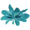 Fading Color Lily Flower Clip with Glitter stems0455