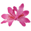 Pink Fading Color artificial silk Lily Flower Alligator hair  Clip Glitter stems0461