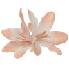Fading Color Lily Flower Clip with Glitter stems0463