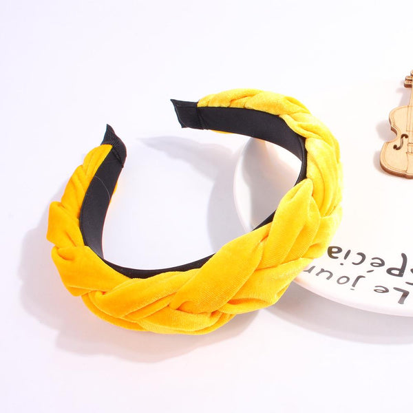 Fashion Velvet Braid Hairband Women Fabric Band Hairband Hair Head Hoop Sweet Girls Hair Headband