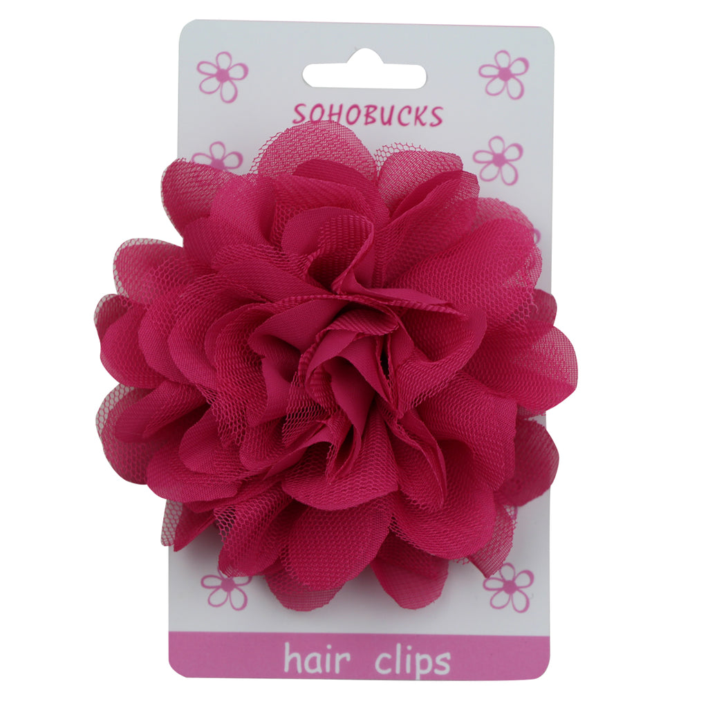 Frayed Fabric Chiffon Flowers Hair Clips Wholesale Cheap Prices1145 - SOHOBUCKS CO.,LIMITED