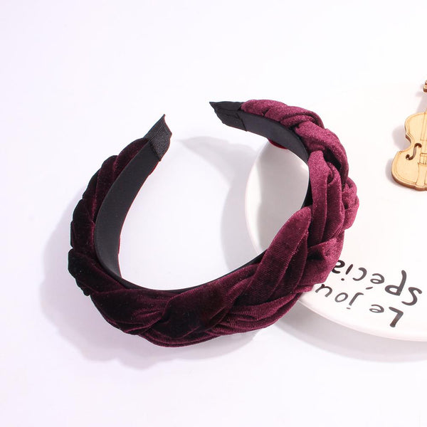 Girls Velvet Knot Braid Headbands Solid Patchwork Hairbands For Women  Head Bezel Hair Hoop Women Girl Hair Accessories