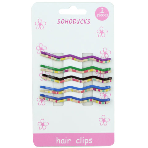 Hair Slide Clips custom print stripe hair clip Wholesale 1390 - SOHOBUCKS CO.,LIMITED