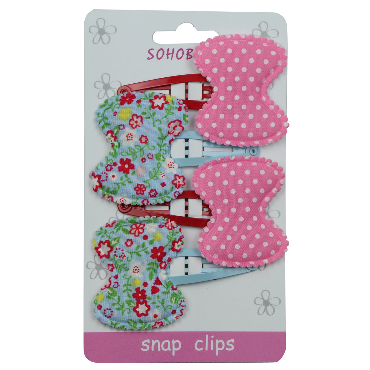 fabric Polka dots bow snap hair clips sublimation print forla bow 5cm snap hair barrette clip 1057 - SOHOBUCKS CO.,LIMITED
