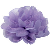Purple laser cut Frayed Chiffon Flower Hair Clip Accessories wholesale 0689