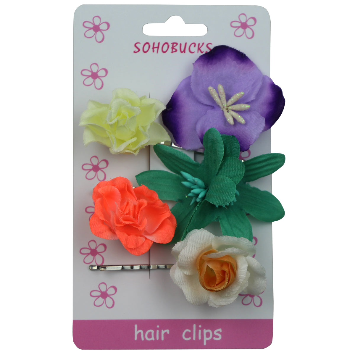 Rose orchid lily flower hair slide clip floral hair accessories set 1064 - SOHOBUCKS CO.,LIMITED