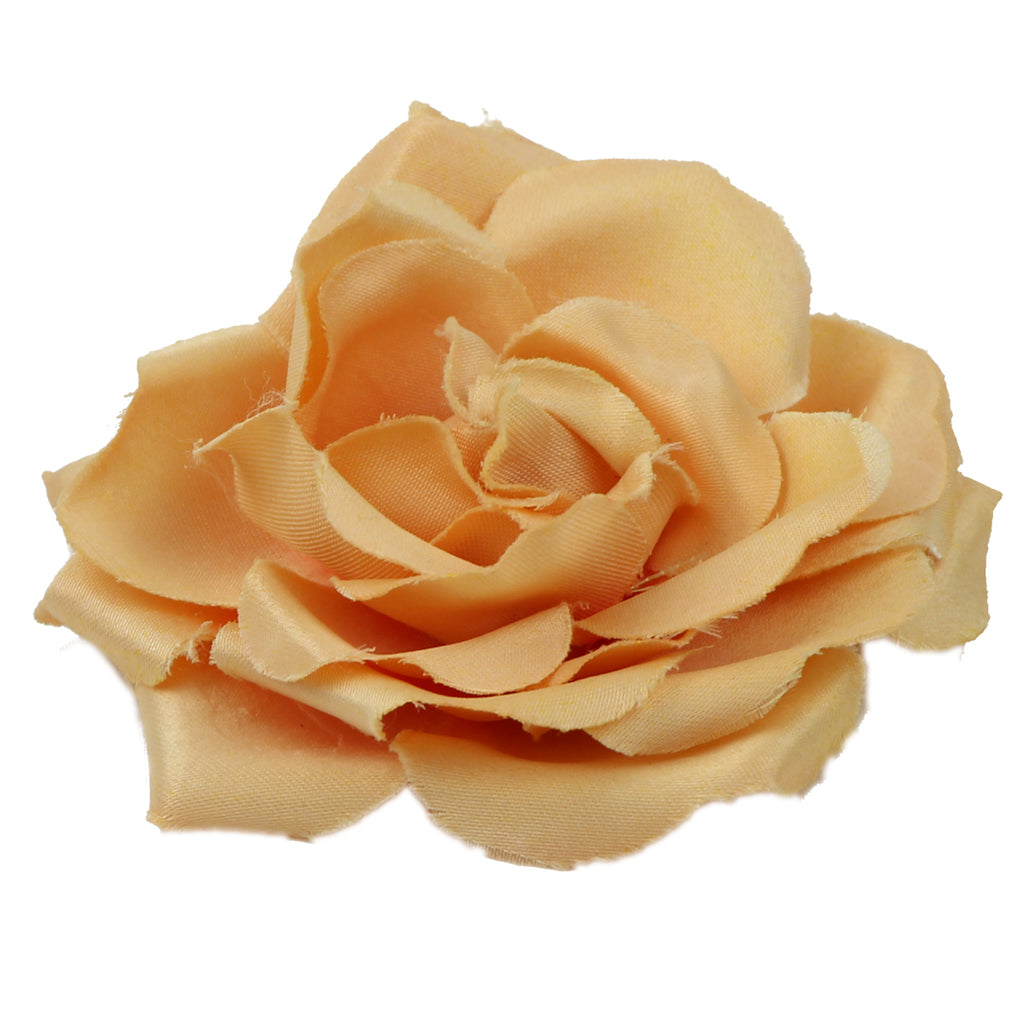 Satin Brown artificial silk Rose Hair Clip Brooch flower hair Accessories clip 0628 - SOHOBUCKS CO.,LIMITED
