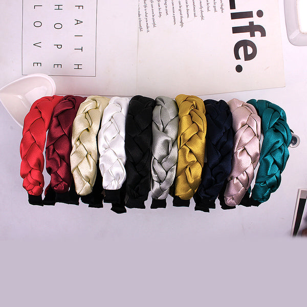 Hair Accessories Fashion Satin Braid Hairband Women Hair Head Hoop Sweet Girls Hair Headband Accessories