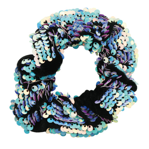 Sequin Hair Scrunchies Hair Bobbles Metallic Elastics Ponytail Holders Hair Wrist Ties Bands Cloth Scrunchies for Show Gym Dance Party Club Girl Women 5531