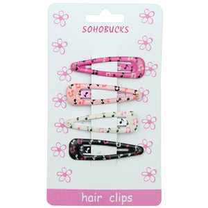 Silk Screen Printed Musical Note Symbol Snap Hair Clips Hair Accessories1266 - SOHOBUCKS CO.,LIMITED