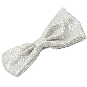 Silver Glitter Suede Faux Leather bow Barrettes Hair Clip for girl 0887 - SOHOBUCKS CO.,LIMITED