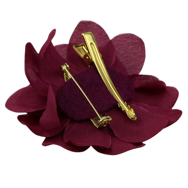 Small artificial silk Lily Flower Hair Accessories gold alligator hair clip brooch floral clip