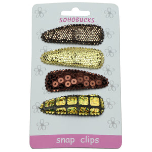 Sparkle sequin fabric covered 5cm snap clip hair accessories glitter headwear wholesale 1011 - SOHOBUCKS CO.,LIMITED