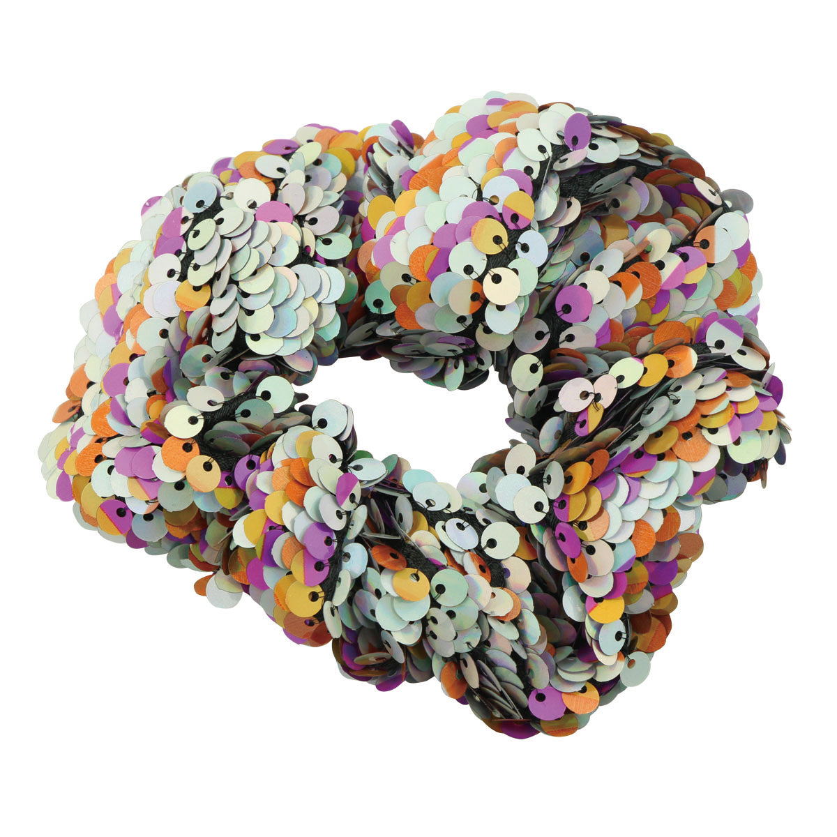 Sparkly Glitter Sequin Hair Scrunchies Ponytail Holder Elastic Hair Bands Hair Ties Hair Accessories Girls Reversible Sequin Scrunchies Women Teens Glitter Scrunchies 5525