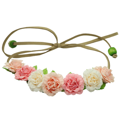 Suede Leather Cord boho Flower Crown women headband 0615 - SOHOBUCKS CO.,LIMITED