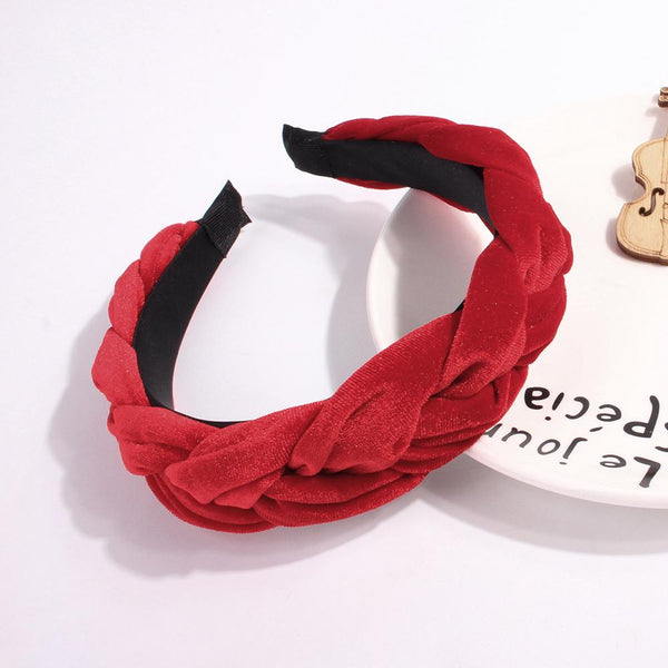 Velvet Braid Headbands For Women Simple Sweet Girls Hair Accessories Solid Head Hoop For Girls