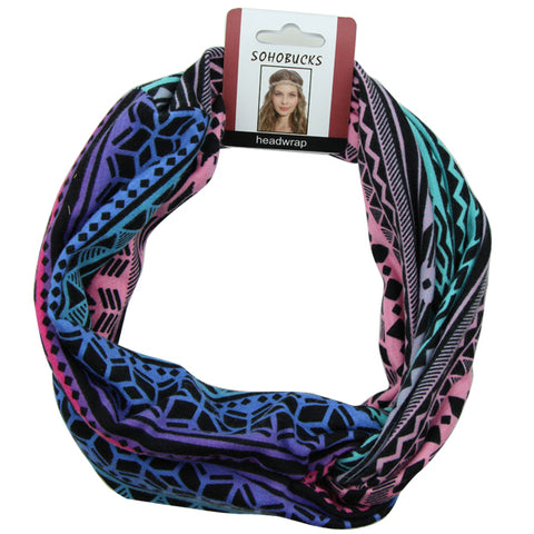 Wide fabric custom sublimation print women twist Head Wraps Cross Headband wholesale factory direct price 1479