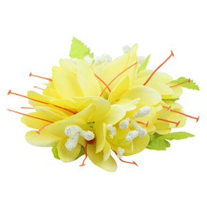 Yellow Assorted Lily Flowers Hair Barrettes with Leaves 0760 - SOHOBUCKS CO.,LIMITED