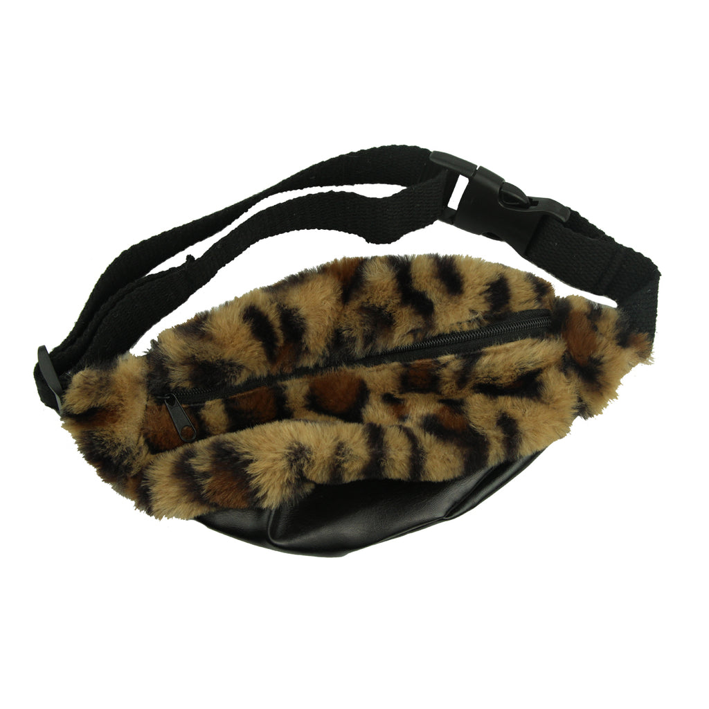 animal print fur leopard fanny pack waist bag,custom custom waist bag,travel private label waist bag,fanny pack waist bag pocket for women8006 - SOHOBUCKS CO.,LIMITED