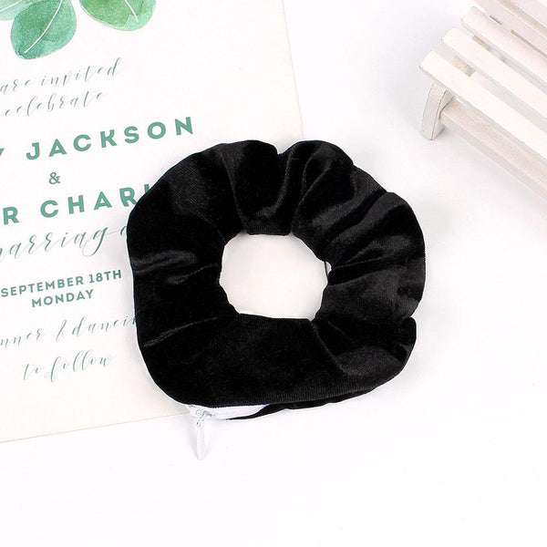black velvet hair scrunchies holder,pocket hair scrunchies wholesale,human hair scrunchies
