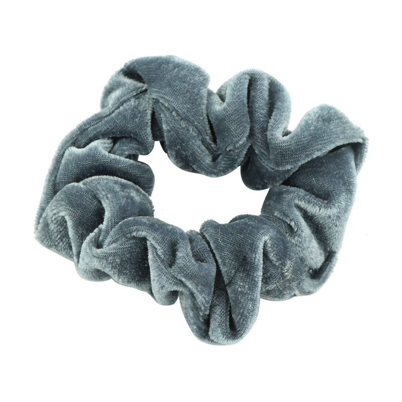 grey velvet hair scrunchies women elastic hairband ponytail hair holders5497