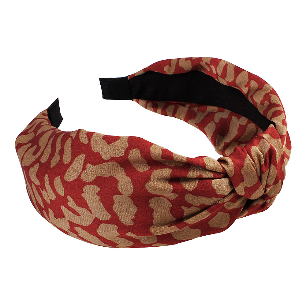 animal print leopard wide hairband,knotted fabric hair headband,2.5cm cloth cover knitted hairband90731