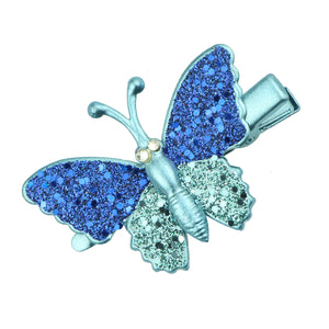 bule rhinestone glitter butterfly alligator hair clip barrettes hair grips girl hair accessories at factory price 6492 - SOHOBUCKS CO.,LIMITED