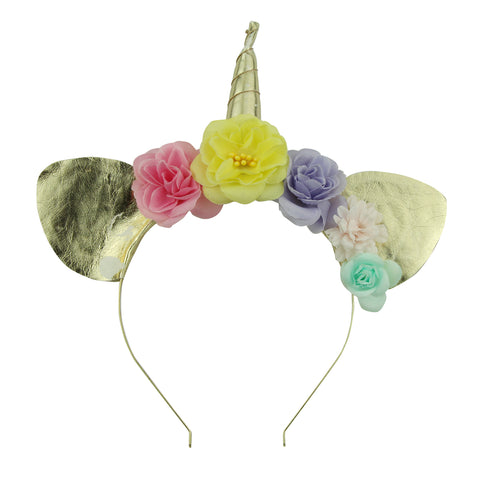 cat ears metal headband adult cat ears flower unicorn horn hairband head band 5933 - SOHOBUCKS CO.,LIMITED